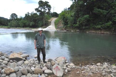 Geir Helge på feltarbeid i Sabah, Malaysia