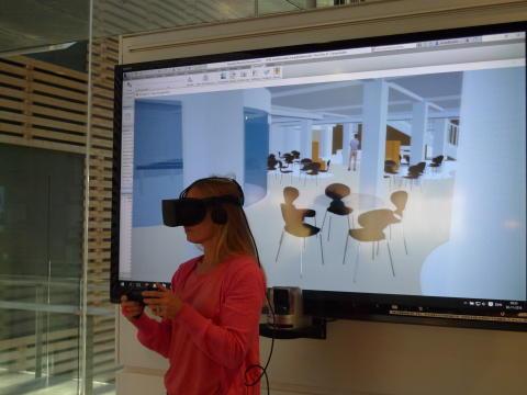 Arkitekt hos Statsbiblioteket Ulla Eltang Sylvestersen ser det kommende projekt med virtual reality