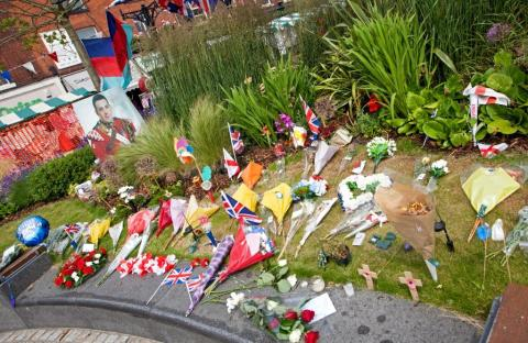 TRIBUTE: Flowers left by mourners at Middleton Memorial Gardens