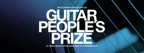 GUITAR PEOPLE'S PRIZE presenterar årets pristagare!
