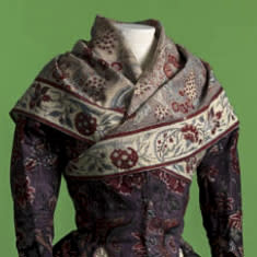 Jacket and shawl in chintz, India, 1750-1800