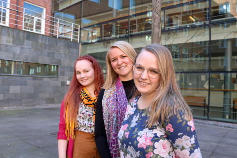 Tiia Meerenheimo, Felicia Bjersing och Teresia Börjesson