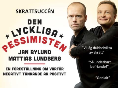 """Inbjudan till humorföreställningen """"Den Lyckliga pessimisten"""" 16 november, Stockholm"""