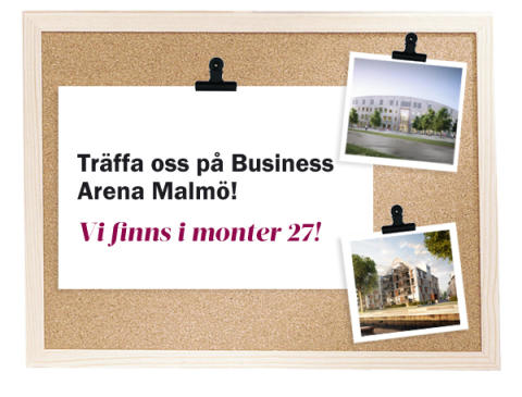 Träffa oss på Business Arena i Malmö.