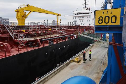 Tankfartyg i Göteborgs Hamn.
