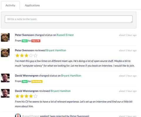 New feature: Hiring teams