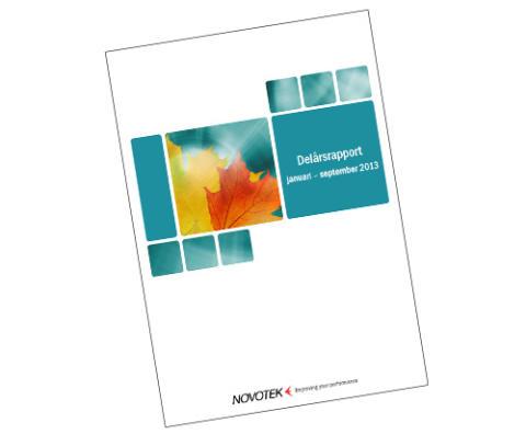 Novoteks delårsrapport januari - september 2013