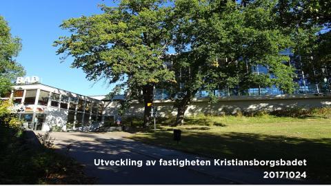 Skisser Kristiansborgsbadets utveckling