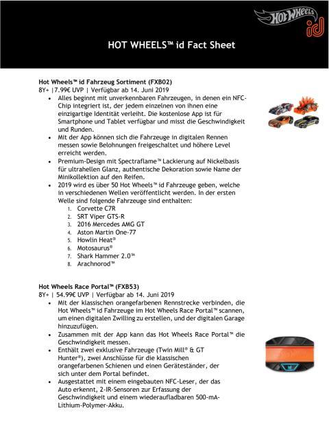 HOT WHEELS ID Factsheet