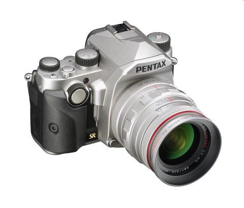 Pentax KP sølv med 20-40mm og grep M