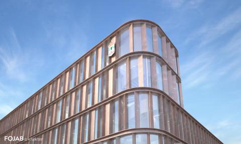 Lunds tingsrätt - Fasad nordväst