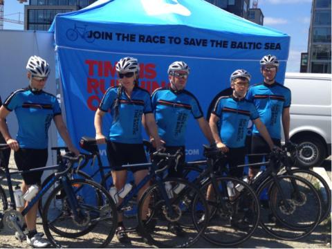 Värmdö hälsar cyklister för ett renare Östersjöhav välkomna