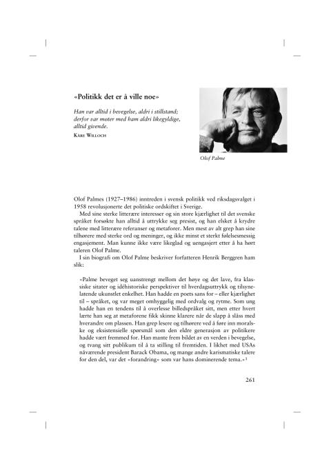 Utdrag Talens makt, Olof Palme