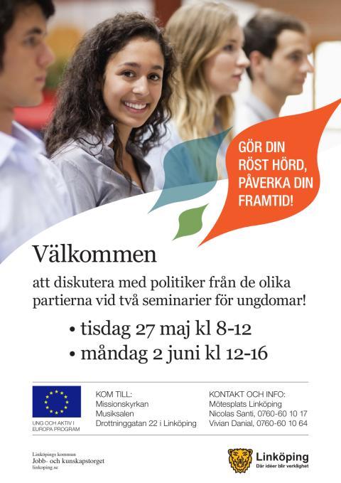 Pressinbjudan: Möten mellan ungdomar och politiker inför valet