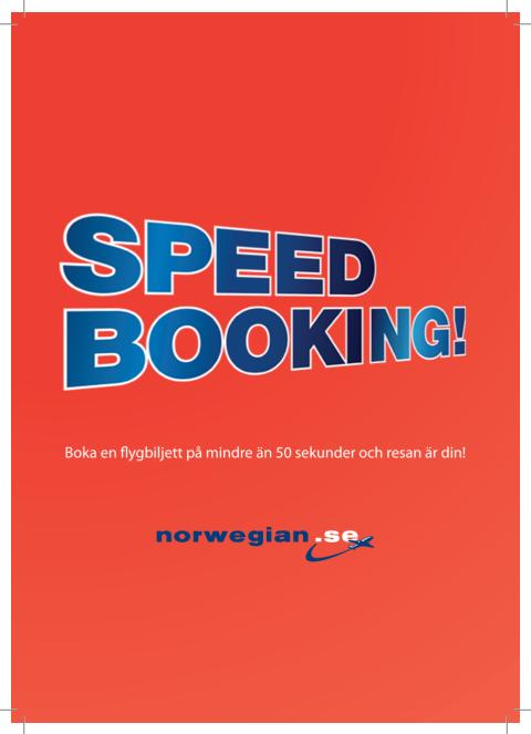 Norwegian Speed booking