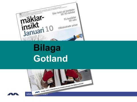 Mäklarinsikt januari 2010: Gotland