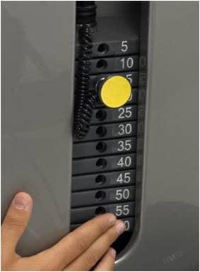 Träningsutrustning avsedd att vara tillgänglig för alla (Bild: Taktil numrering)
