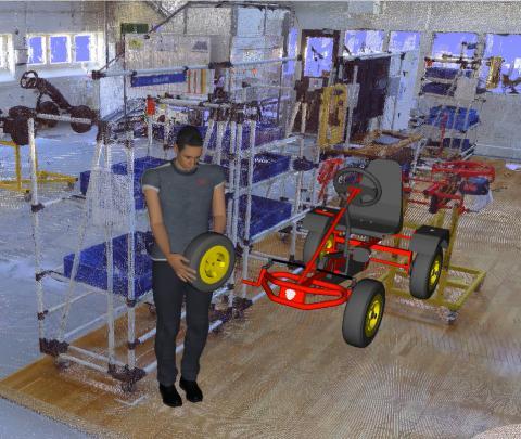 Ergonomisimulering och smarta textilier för bättre arbetsmiljö inom industrin