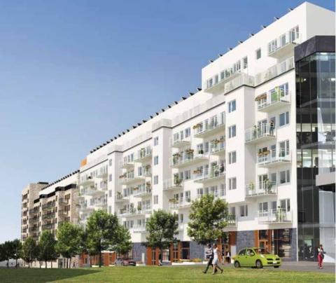 Eneo tecknar avtal om solceller med Areim och Skanska för brf Fredriksdals Kanal