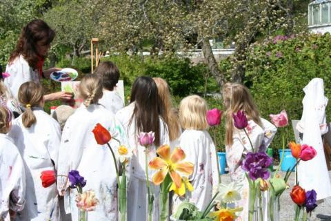 Friluftsmåleri: Vår i konstnärens trädgård