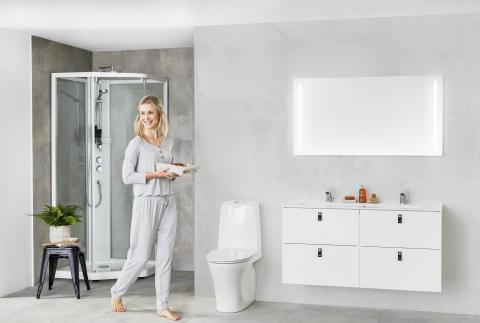 Viisikulmainen IDO Showerama 10-5 -suihkukaappi