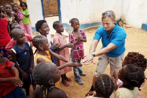 Tina Thörner besöker barnhemmet i Bangui (CAR)