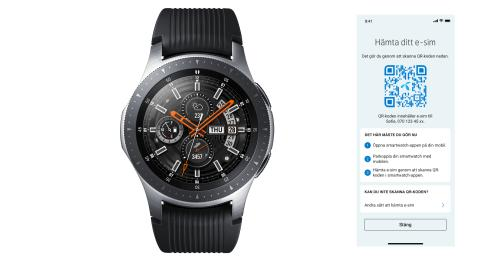 Samsung Galaxy Watch får e-sim hos Telenor