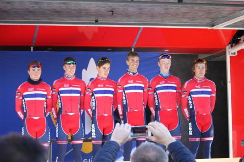 Juniorlandslaget i Paris-Roubaix junior