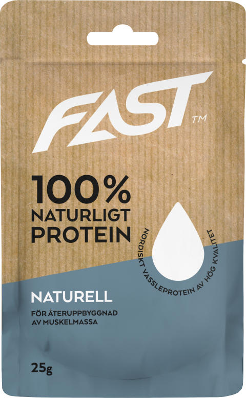 Naturligt nordiskt vassleprotein - Naturell 25g