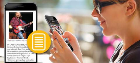 Readly lanserar ny läsfunktion för mobilen