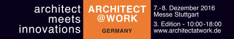 architect @ work - architect meets innovations