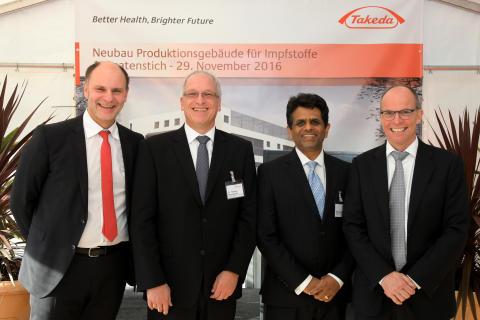 Spatenstich Neubau Impfstoffproduktion in Singen - Gruppenfoto der Redner