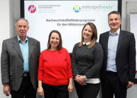 Nachwuchs für Mittelstand im Fokus: Management-Hochschule und Personalberatung metropolheads kooperieren: Studierende und Unternehmen lernen sich bereits im Studium kennen