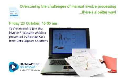 Neopost hosts a free webinar: Overcoming the challenges of manual invoice processing