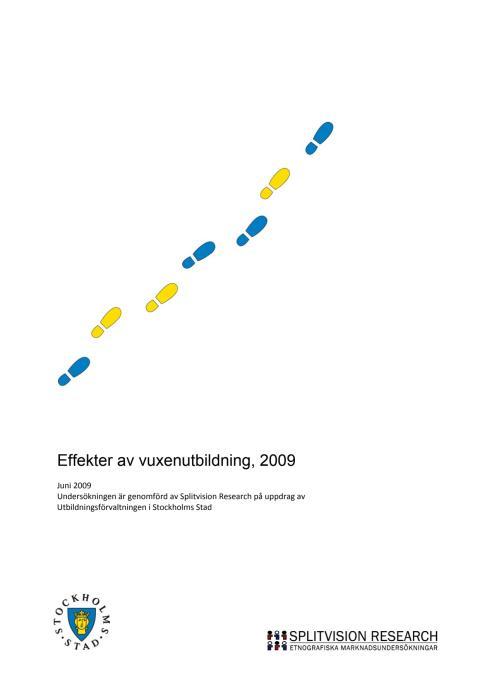Undersökning Vuxenutbildning Stockholmsrapporten