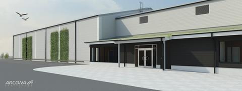 Arcona bygger dubbelhall på Stora Mossens idrottplats