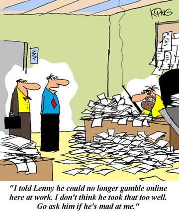 Stackars Lenny som inte får spela casino på jobbet