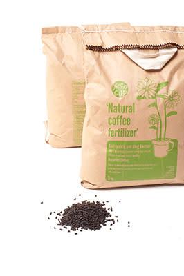 Coffee + Sheep's Wool = Natural  Coffee Fertiliser!
