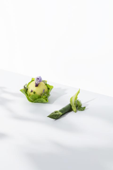 Kall potatissallad och grön sparris