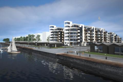 Bostäder på Limhamnskajen, JM Glasbruket