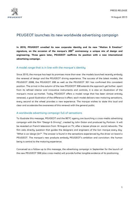 Peugeot ökar sin försäljning