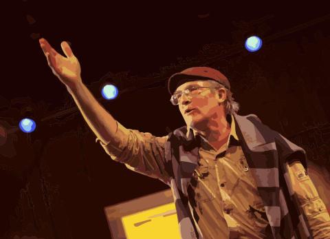 Legend från USA besöker teatergrupp i Huddinge