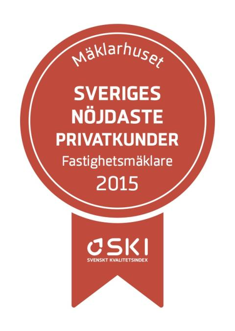 Mäklarhuset toppar Svenskt Kvalitetsindex för åttonde året i rad
