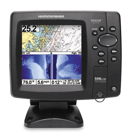 Hummingbird 596cx är ett nytt ekolod som har en mycket ljusstark 5 tums HD skärm.