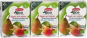 Semper vetää takaisin erän Eco Omena & päärynämehua
