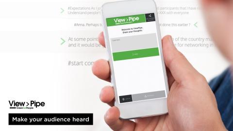 ViewPipe skapar delaktighet och engagemang på seminarier i Almedal