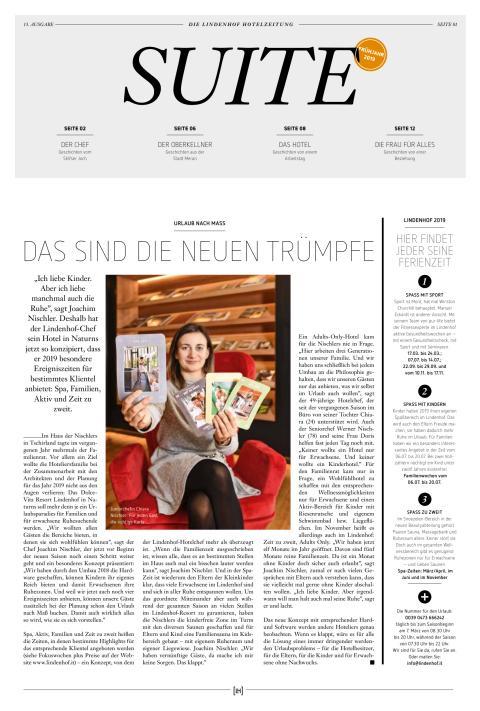 DolceVita Resort Lindenhof SUITE Frühling 2019