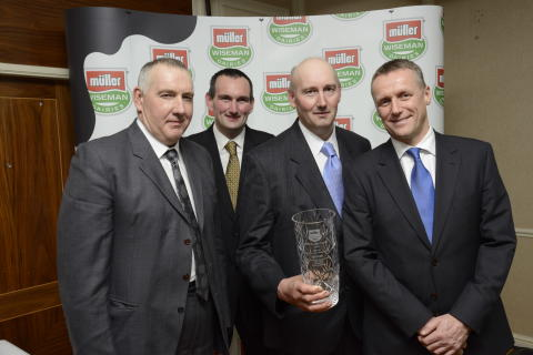 David, Alan and Neil Pryce with Graeme Jack Winners of the Below 2 Million Litres Per Annum Category