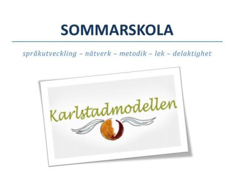 IAKM-Sveriges Sommarskola enligt Karlstadmodellen