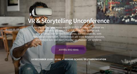 Berghs och SVRVIVE Studios anordnar Sveriges första VR Unconference